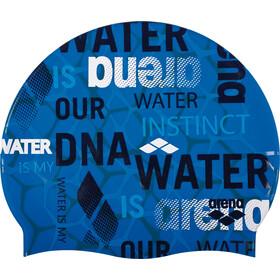 arena Print 2 Swimming Cap evolution pix blue